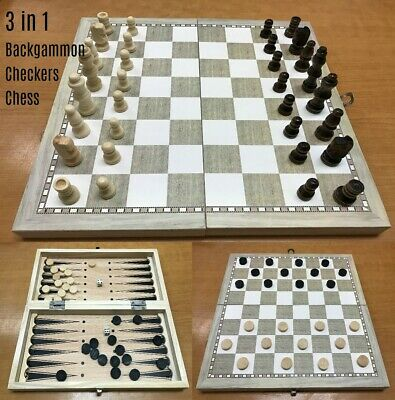 NEW Magnetic Folding Chessboard Chess Board Box Set Gift Kids Game Toy Puzzle