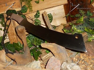 Combat Machete/Cleaver/Sword/Bowie knife/Survival/Carbon spring steel/Full tang