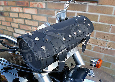 Cuir Moto Grand SACOCHE OUTILS SACOCHE Harley-Davidson SPORTSTER pour