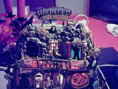 Dept 56 Halloween Village Animated Haunted Fun House