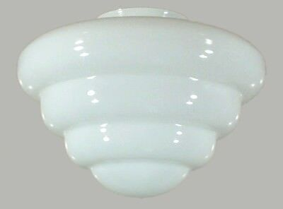 "New Art Deco Beehive 10"" Glass Shade Part Lamp Light Pendant Hanging"