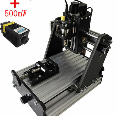 3 Axis Carving DIY Engraver +500mw laser headCNC Mini Milling Engraving Machine