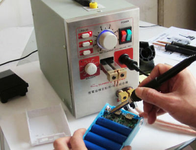 220V 2in1 18650 Battery Spot Welder Soldering Micro-Computer Pedal Control 1.5KW
