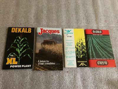 Lot of 4 Vintage Seed Corn Adv. Memo Booklets Dekalb Jacques O's Gold YW