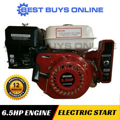 6.5HP Petrol Engine Electric Start Horizontal Shaft replace Generator Pump Motor