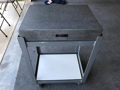 18'' X 24'' Standridge Granite Surface Plate And Stand With Wheels