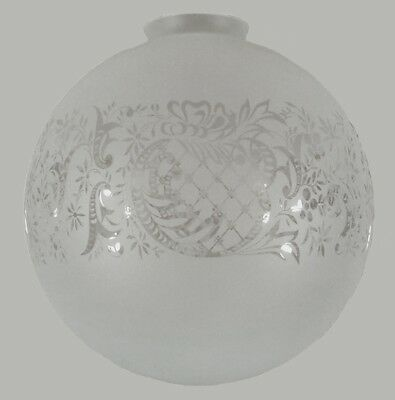 """New Art Deco Sheffield 10"""" Glass Shade Part Lamp Light Pendant Hanging Etched"""