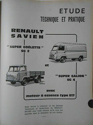 ►Revue Technique - Saviem Goelette - Super Galion - Autoradio - Panhard - 404