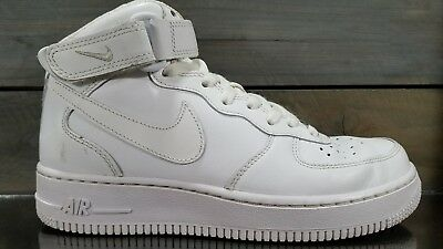 huge discount bff4c c56f6 NIKE AIR Force 1 AF1 High Top White Mens Sz 6 2014 Strap Shoes Sneakers OG  EUC
