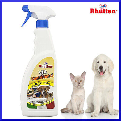 Disabituante Repellente Dissuasore  Per Cani E Gatti Spray Ml.0,750