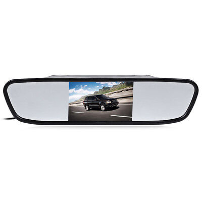 """4.3"""" Color LCD Mirror Car Truck Parking Display Monitor Rear View Reverse Camera"""