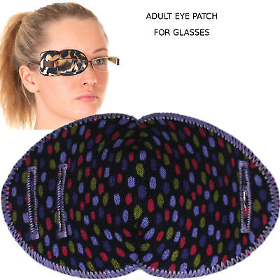 Medical Eye for Glasses, PURPLE MULTI DOTS, Regular Size, Soft and Washable