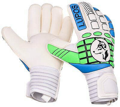 Goalie Gloves Adult - LUPOS with Finger Save and Double Padded Backhand for 4 mm