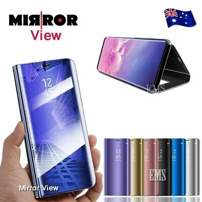 Samsung Galaxy S10 S9 S8 Plus Note 8 9 Smart Mirror View Flip Case Stand Cover