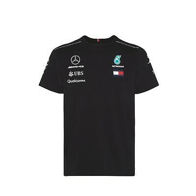 Mercedes AMG Petronas Motorsport F1 Men's Team Driver T-Shirt - 2018 - Black