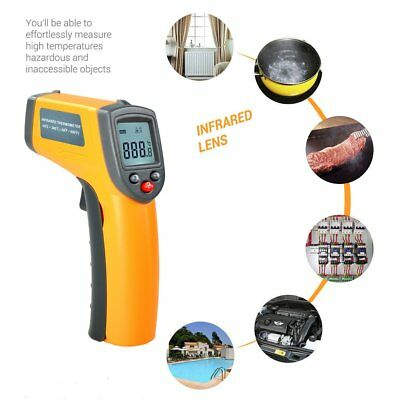 Laser LCD Digital IR Infrared Thermometer Temperature Meter Non Contact Sensor&W