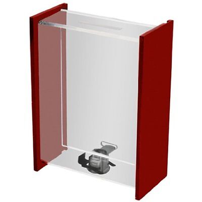 Clear Donation Box Ballot Ticket Boxes Collection Tip Container W/sliding Door