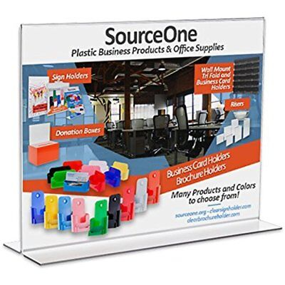 Store Sign Holders Source One 11 8.5 Inches Upright Clear Acrylic Display Ad