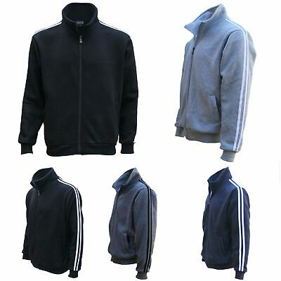 New Men's Adult Zip Up Hooded Casual Sports Sweat Shirt Jumper Hoodie Sweater