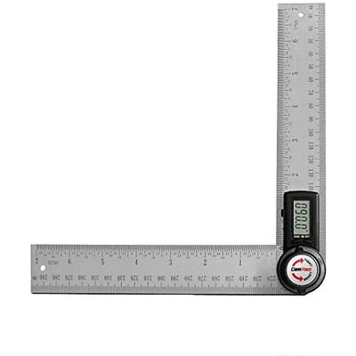 Protractors GemRed 82305 Digital Angle Finder 7-Inch Protractor (200mm Stainless