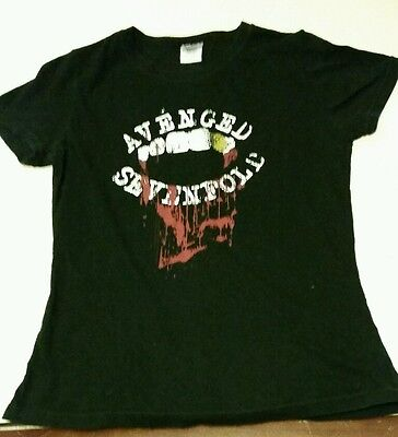 Avenged Sevenfold Womens Concert Tour Black T-Shirt Sz L Rare