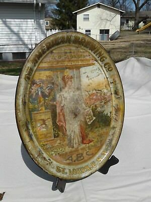 Pre pro ABC beer American Brewing Co. pre pro beer tray Commerce tray St louis m