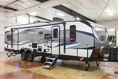 New 2018 29HFS Hyper Lite Four 4 Season Toy Hauler Travel Trailer Slide Out