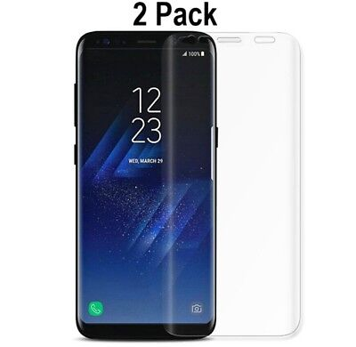 2x FULL COVER Curved PET Screen Protector Film For Samsung Galaxy S9 S9+ Plus