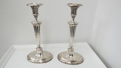 Pair of antique Sterling Silver English Candlesticks
