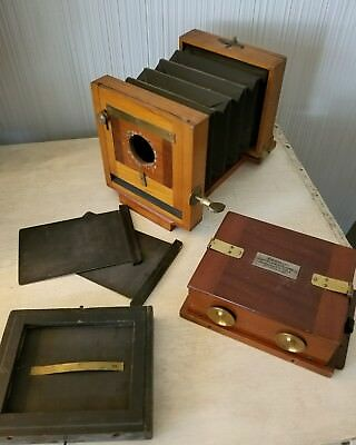 Antique 1885 Scovill Waterbury 4 x 5 Antique Wood View Camera Eastman Dry Plate