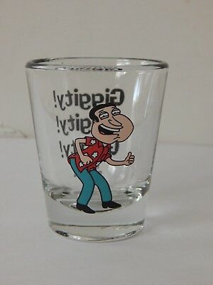 Family Guy Quagmire Griffin GIGGITY! Shot Glass 2004 ICUP