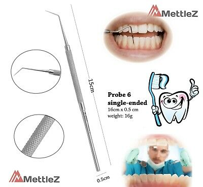 Dental Examination Probe 6  Single Ended Dentist Hygienist Probes MettleZ Lab CE