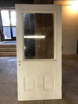 Beautiful Antique victorian Vintage Solid Wood Door w/ Window 36 x 76