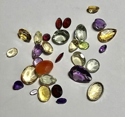 Natural Gemstones from Gold Scrap Recovery, 54 Carats