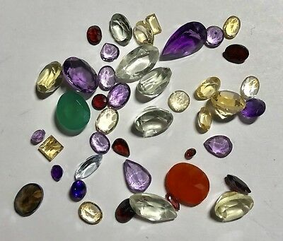 Natural Gemstones from Gold Scrap Recovery, 70 Carats