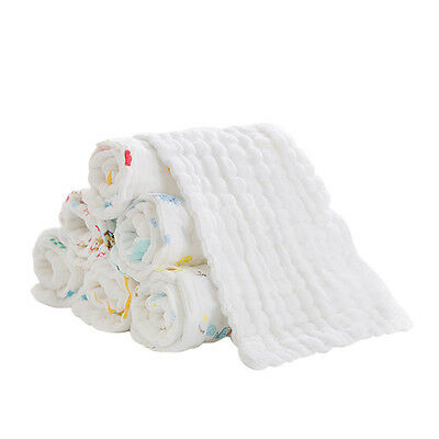 Reusable Washable Soft Baby Inserts Nappy 12 Layers Cloth Cotton Liners Diapers