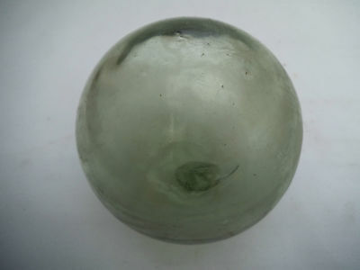 Vintage Old Small Size Glass Buoy, Old Marine Thick Glass Ball, No.1