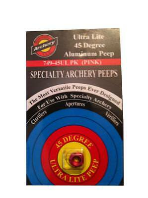 "Specialty Archery 1/8"" 45 Degree Ultra Lite Peep Housing PINK #749-45ULPK"