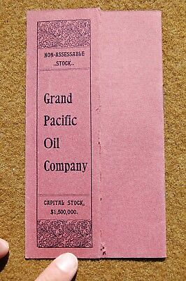 1900 Oil Promotional Brochure GRAND PACIFIC OIL COMPANY Kern County California!!
