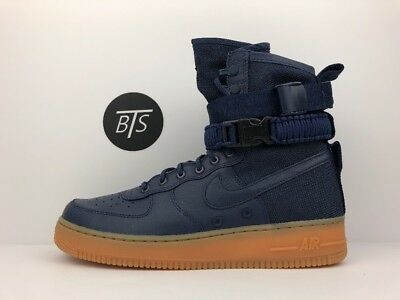 "Men's Nike SF Air Force 1 ""Special Forces"" Size 9 Midnight Navy (864024 400)"