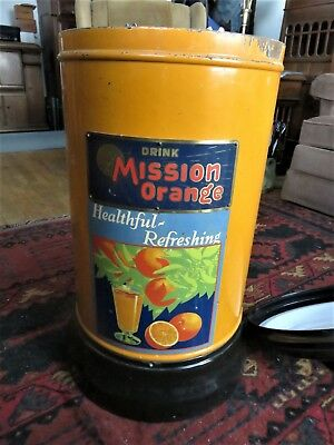 Vintage Mission Orange Juice Dispenser California Crushed Juice Corp Los Angeles