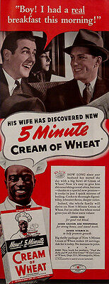 1939 Cream of Wheat Cereal Vintage Magazine Ad