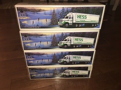 Hess Toy Truck Bank 1987 Lot Of 4Pc Very Good Condition
