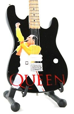 Miniature Guitar FREDDIE MERCURY with free stand. QUEEN