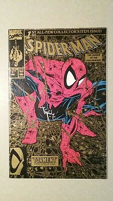 Spiderman #1 Gold ed. SIGNED by TODD MCFARLANE comic