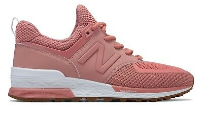 NEW BALANCE WOMEN WS574WC 574 SPORT DUSTED PEACH PINK Lifestyle ...
