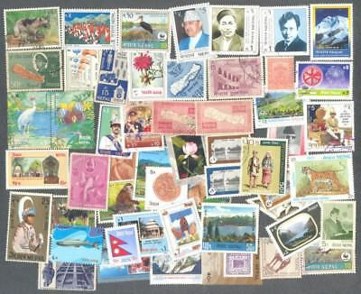 Nepal 500 all different stamp collection-many thematics