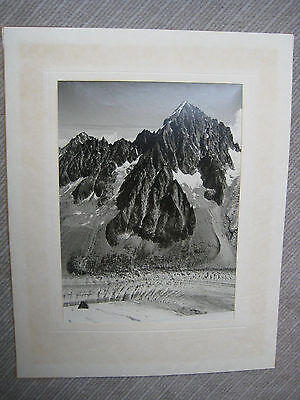 Photo J. BRISSAUD Argentiéres Auvergne Alpes 1967 60er Original antik Fotografie