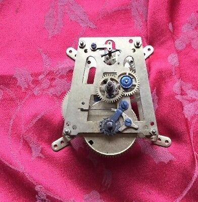 "HAC German 12"" Dial Clock Movement For Spares Or Repair Good Spring Rare"