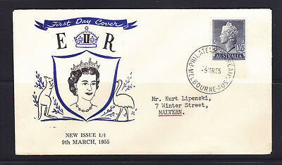 Fdc: 1955 1'0 1/2 Qeii  Cover Very Fine.